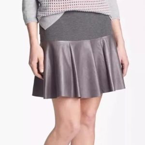NWT Nordstrom Hinge leather paneled skirt